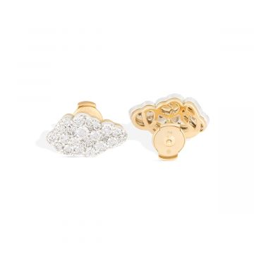Earring yellow and white gold with full of diamonds