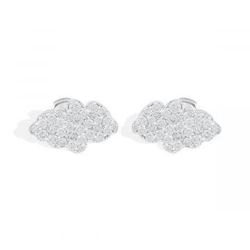 2.30 Cts diamond white gold earring