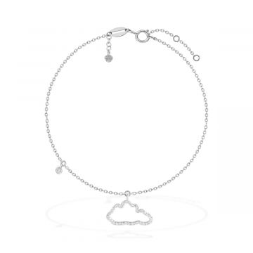 18 white gold with 0.14 Cts diamond anklet
