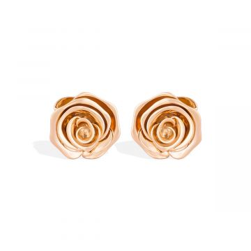 Rose love pink gold earring