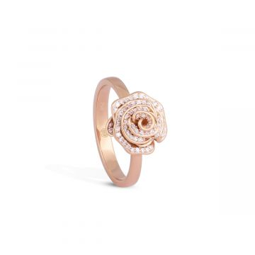 Rose love 0.17 Cts pink gold ring