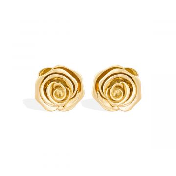 Rose love yellow gold earring