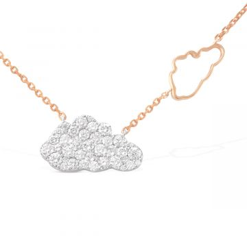 Cloud love 1.50 Cts diamond and 18k white gold pendant