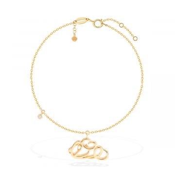 18k yellow gold latest anklet