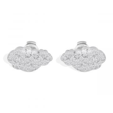 18k white gold with cloud shape pattern and 2.20 Cts diamonds