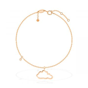 Amazing yellow gold 18k anklets