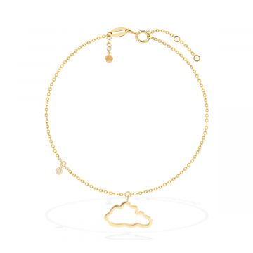 Cloud love 18k yellow gold anklet
