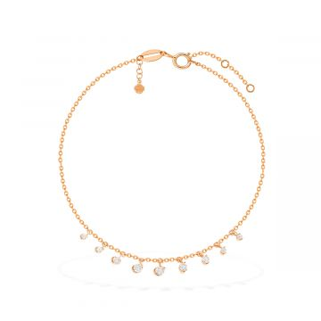 Moon life 18k pink gold and diamond anklet