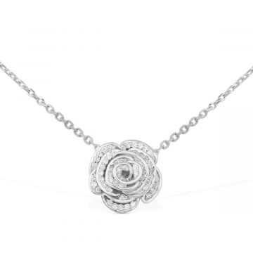 luxury necklace in white gold