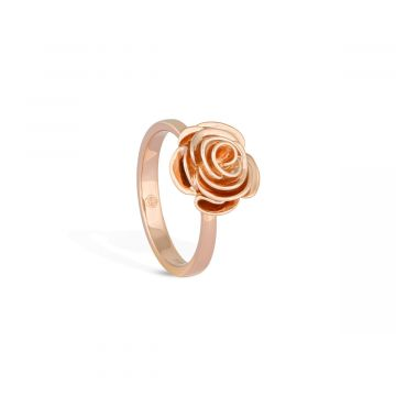 Classic 18k pink gold ring