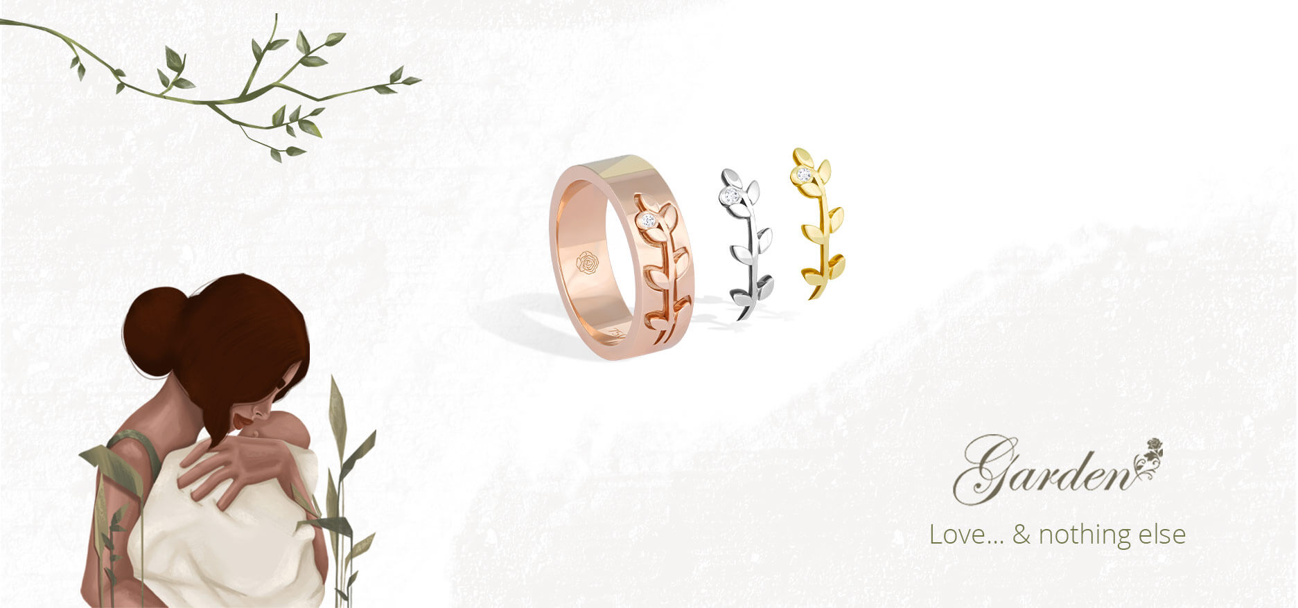 pink gold ring with diamond